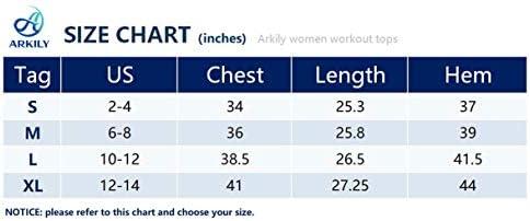 Arkily Workout Tank Tops for Women Sleeveless Muscle Tank Lightweight Flowy Yoga Shirts