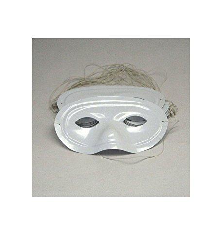 [Plastic White Half Masks (2 dozen) - Bulk [Toy]] (Plain White Mask Costume)