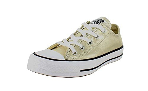 Converse Kid's Chuck Taylor All Star Seasonal Ox Fashion Sneaker Shoe - Light Gold/White/Black - 12