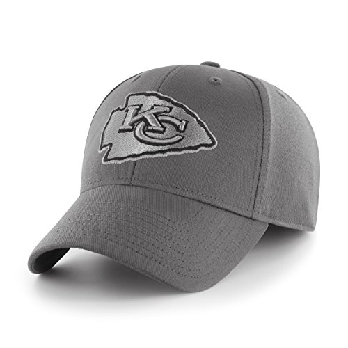 OTS NFL Kansas City Chiefs Comer Center Stretch Fit Hat, Charcoal, -