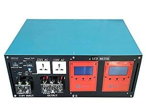 40000W peak 10000W LF Split Phase Pure Sine Wave Power Inverter DC 24V to AC 110V&220V 60Hz, with 150A BC / UPS / LCD display