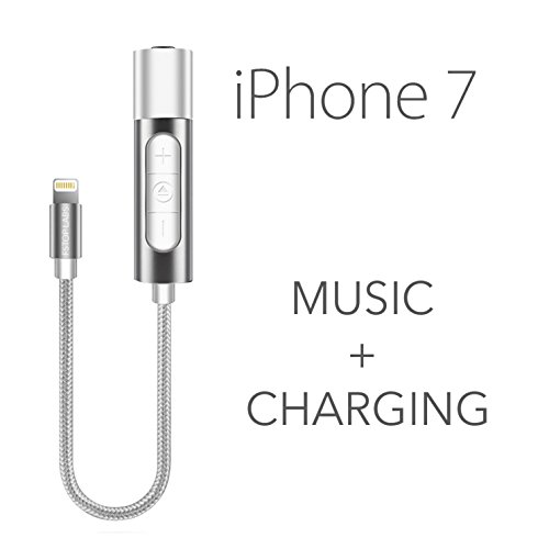 iphone 7 lightning to 3 5mm power audio charge headphone
