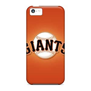 Shock-Absorbing Hard Phone Cases For Iphone 5c With Provide Private Custom High-definition San Francisco Giants Pattern JasonPelletier