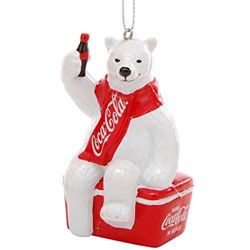 (Kurt S. Adler YAMCC1124 Coca-Cola Polar Bear Ornament, 3.5