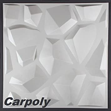 1 M2, Pannelli 3D, Decorazione Da Parete, 50 X 50 Cm, Carpoly: Amazon.it:  Fai Da Te