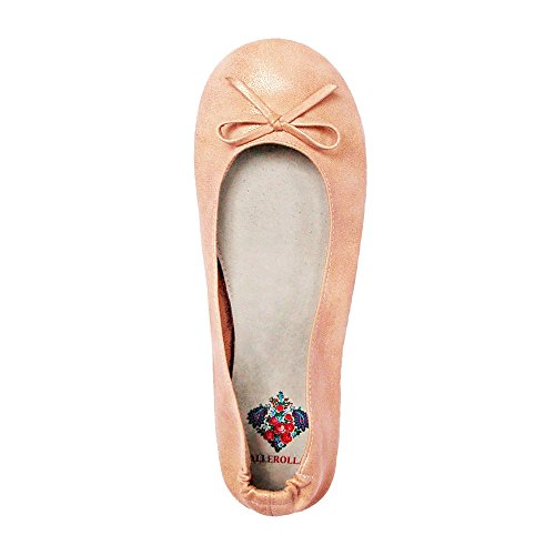 Pliable-chaussures ballerines bALLEROLLAS afterparty wechselschuhe-aluminium-beige-taille 36