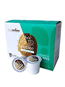 Keto Coffee by Keto and Organic, MCT Fused Medium Roast Coffee, Weight Loss Coffee, Single Serve Coffee Pods Compatible with All K-Cups Brewers (Keto Coffee)