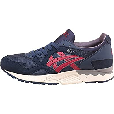 sports shoes bf868 5f739 Mens Asics Tiger Gel Lyte V Trainers Navy Burgundy Guys Gents   Amazon.co.uk  Shoes   Bags