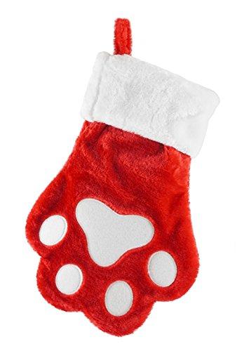 (Seasons Designs Dog Paw Print Pet Holiday Christmas Stocking)