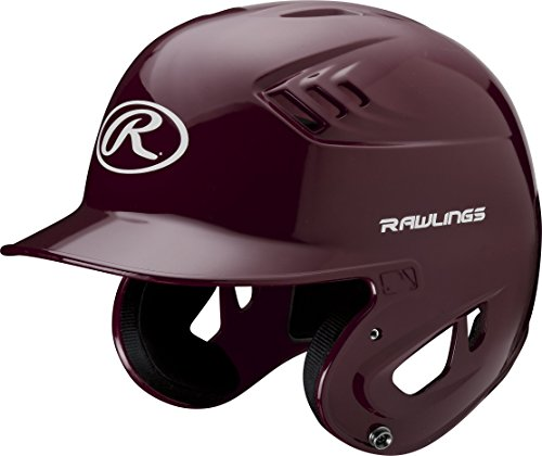 Rawlings Clear Coat Alpha Sized Batting Helmet, Maroon, (Collegiate Batting Helmet)