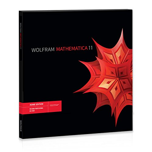 Wolfram Mathematica 11 Home Edition Software (Windows/Mac/Linux DVD-ROM)