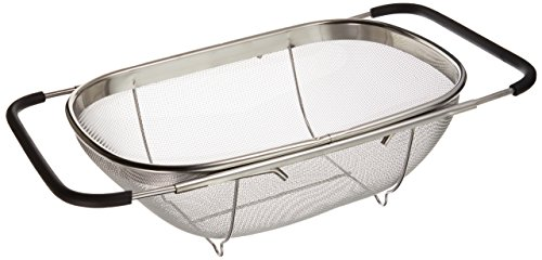 Over Sink Stainless Steel Adjustable Colander -
