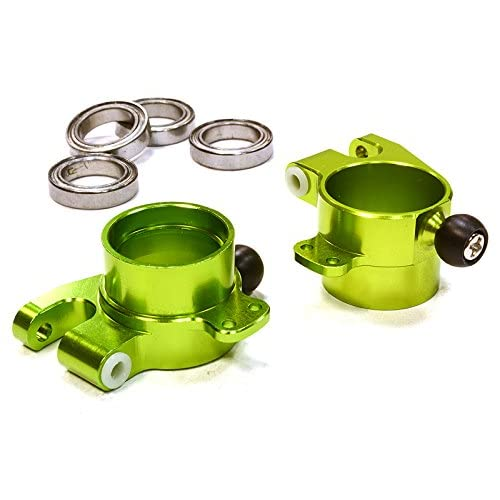 Integy RC Model Hop-ups C26308GREEN Billet Machined Rear Hub Carriers for HPI 1/10 Scale E10 On-Road