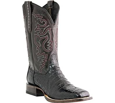 Lucchese Since 1883 Men's M1646.TWF Black Belly Tail Crocodile Cowboy Boots,11 D