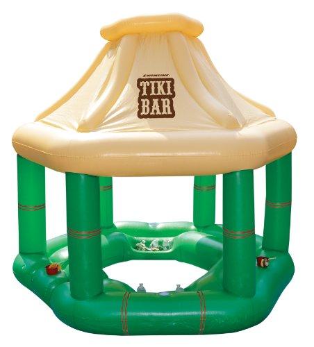 Swimline Floating Tiki Bar Pool Float (Floating Pool Bar)
