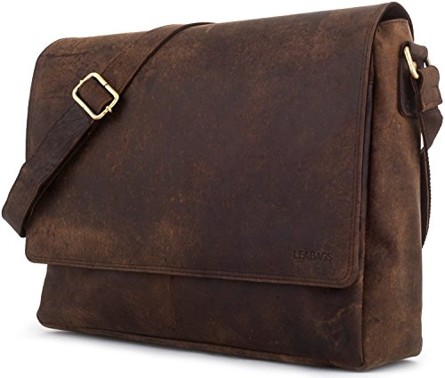 LEABAGS Oxford genuine buffalo leather messenger bag in vintage style - Muskat by LEABAGS (Image #2)