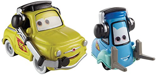 Disney Pit Cars Pixar - Disney/Pixar Cars, 95 Pit Crew Die-Cast Vehicles, Race Team Luigi & Guido with Headsets #4,5/5, 1:55 Scale