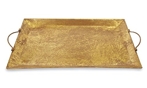 Large Gold Foil Tin Serving Tray, 16 1/2