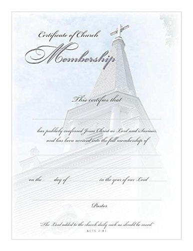 Church Membership Certificate PDF