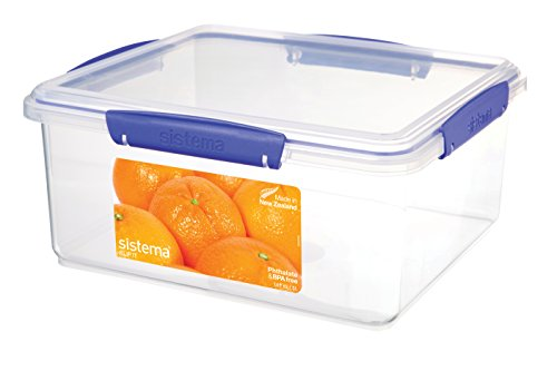 Sistema 1850 Klip It Collection Rectangle Food Storage Container, 169 Ounce/21 ()