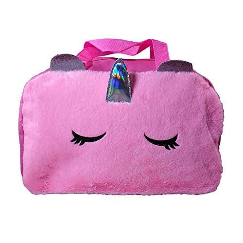 Unicorn Furry Duffle Bag 17