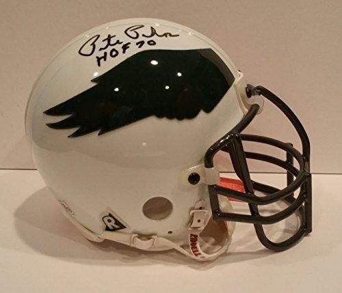 Pete Pihos Philadelphia Eagles hand Signed Throwback Mini Helmet - ()
