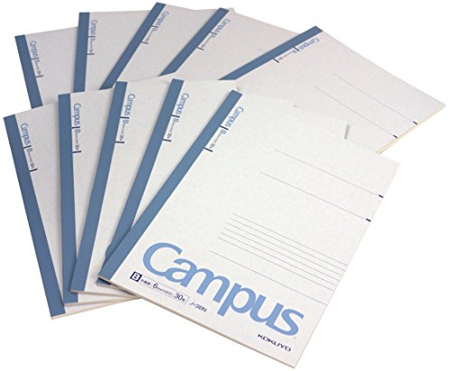 "Kokuyo Campus Notebook Semi B5(""9.8×""7)- 6 mm - 35 Lines X 30 Sheets - Pack of 10 (Japan Import)"
