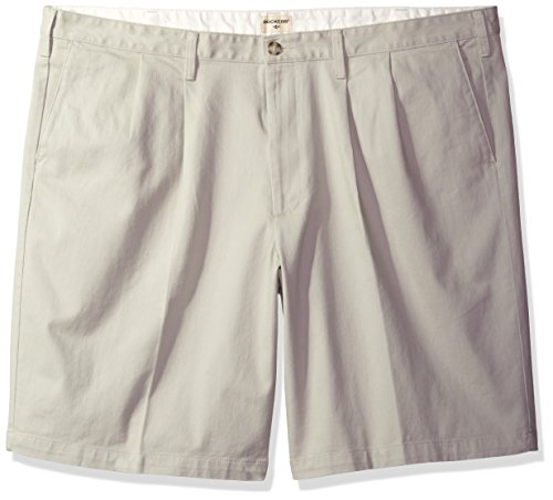 Dockers Men's Big and Tall Double Pleated Short, Porcelai...