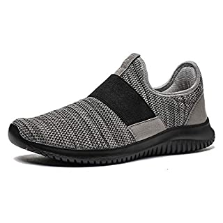 La Moster Men's Athletic Running Shoes Fashion Sneakers Casual Walking Shoes for Men Tennis Baseball Racquetball Cycling Grey