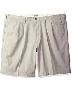 Men's Big and Tall Double Pleated Short