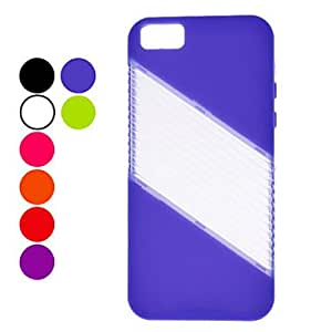 xiao Inclined stripe pattern of hard box for the iPhone 5 seconds (various colors) , Black