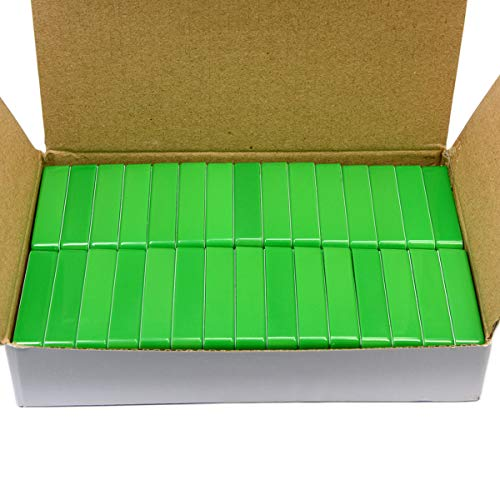 (30 Pack Green Domino Magnetic Holders By CMS Magnetics - Can Hold 37 Pieces of Paper)