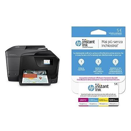 HP OfficeJet Pro 8715 Stampante Multifunzione con 3 Mesi di Prova Gratuita del Servizio Instant Ink K7S37A#BHC