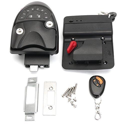 (SAFETYON Keyless Entry System Car Alarms Remote Control Central Kit Door Lock Latch Handle Knob Deadbolt Camper Trailer)