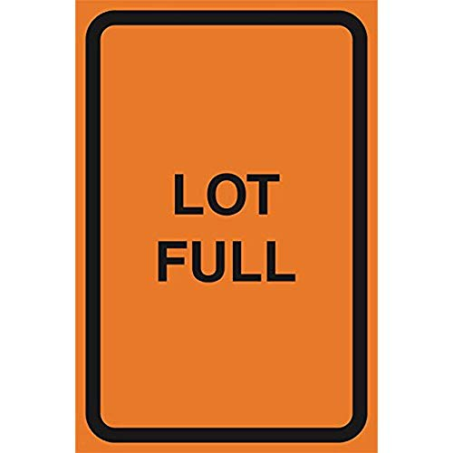"""Diuangfoong Lot Full Orange Construction Zone Safety Street Parking Car Lot Warning Business Signs Commercial Sign Aluminum Metal Tin 12""""x18"""" Sign Plate from Diuangfoong"""