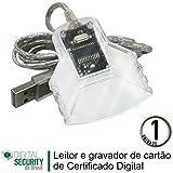 Leitor e Gravador Cartão Smart Card de Certificado digital e-CNPJ e-CPF NF-e Conectividade Social