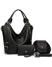 Women Handbags Hobo Shoulder Bags Tote Synthetic Leather Handbags Fashion Large Capacity Bags 4pcsTote Bags