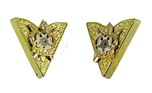 4031784 Order of DeMolay Collar Tips Shrine Cuff Links Shriner by Shrine & Mason Products