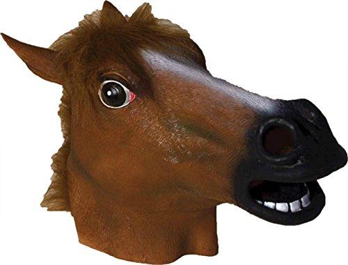 Horse Gangnam Style Animal Latex Adult Halloween Costume Mask