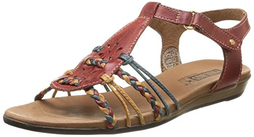 Pikolinos ALCUDIA 816-3 - sandalias abiertas de cuero mujer rojo - Rot (SANDIA)