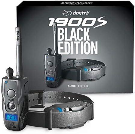 Dogtra 1900S Black Ergonomic 1-Mile IPX9K Waterproof High-Output Remote Dog Training Matte Black E-Collar