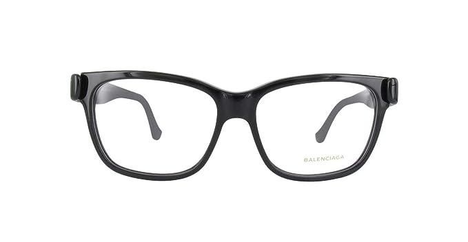 Balenciaga Brillegestelle BA5003-001-53, Monturas de Gafas para Mujer, Negro (Shiny Black), 53: Amazon.es: Ropa y accesorios