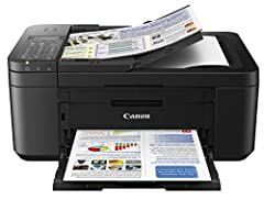 Printing, scanning and faxing shouldn't require a huge printer to get the job done, and with the PIXMA TR4520 you'll see how a compact office printer stands up to the bulkier printers. It is the right size which has the right features, like W...
