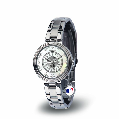 MLB Seattle Mariners Charm Watch, Silver
