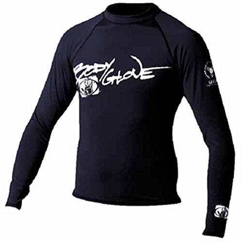 Basic MENS Long Sleeve Lycra Rashguard Shirt XS Black