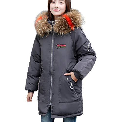 Women Winter Warm Coat Faux Fur Hooded Thick Warm Slim Jacket Long Overcoat Duseedik
