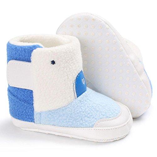 BZLine® Baby Schnee Stiefel kleinkind kleinkinder newborn Erwärmung Schuhe Stiefel Blau