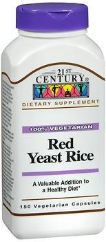 21st Century Red Yeast Rice Supplement, 150 Veggie Caps, Pack of 4