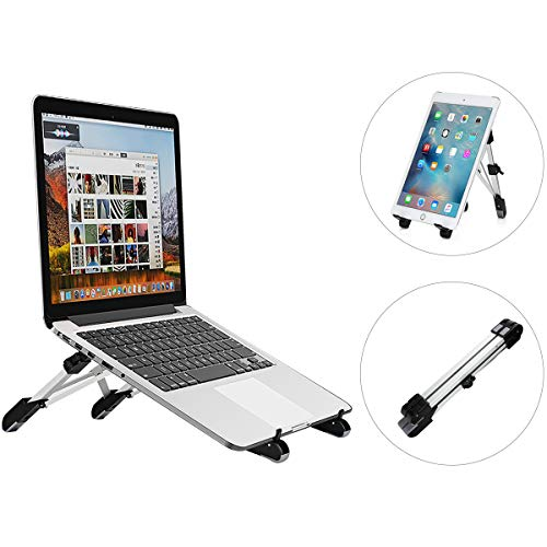 Portable Laptop Stand, Adjustable Aluminum Laptop Stand Portable Foldable Computer Stand for MacBook Notebook Computer PC iPad Tablet