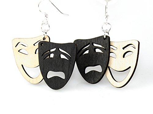 Tragedy Earrings Comedy (Comedy / Tragedy Earrings)